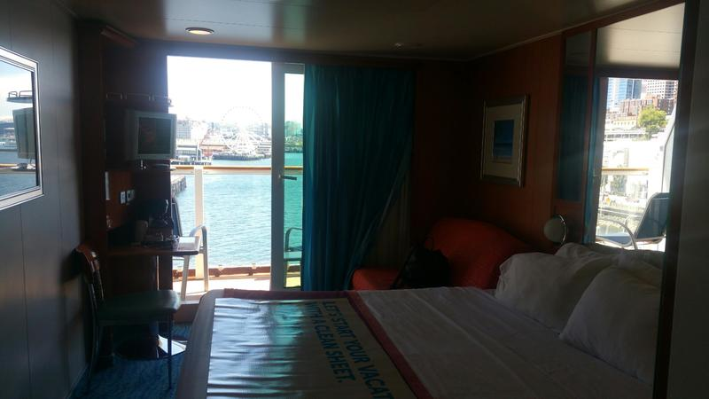 Aft-Facing Balcony Stateroom on Norwegian Pearl