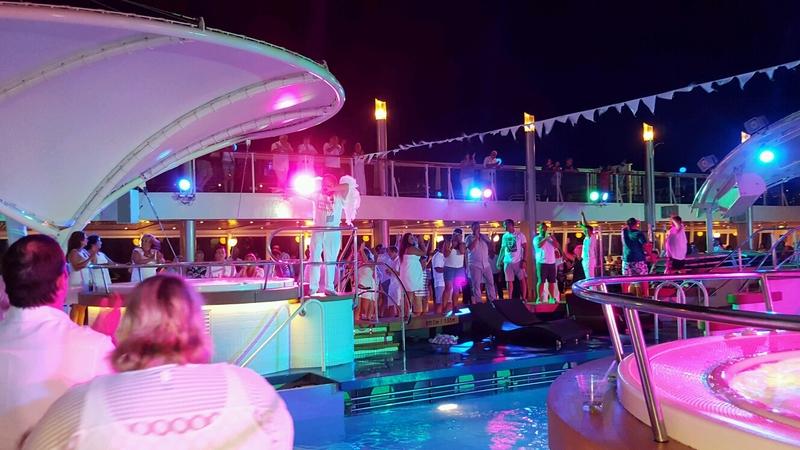White Hot Party!!!! so much fun!!!! - Norwegian Dawn