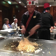 Teppanyaki on Norwegian Gem