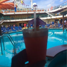 Tides Pool on Carnival Breeze