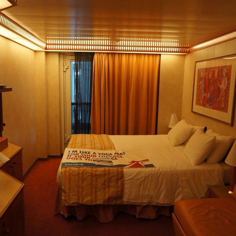Interior w french door stateroom obstr view cabin for Interior cabin doors
