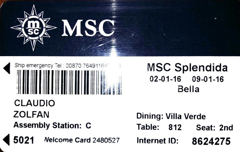 MSC Splendida cabin 5021