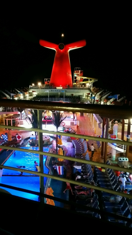 A night at sea! - Carnival Sensation