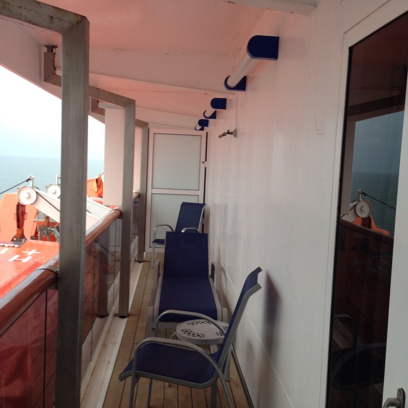 Balcony Stateroom Obstructed View Cabin Category A Carnival Pride - What is obstructed view on a cruise ship