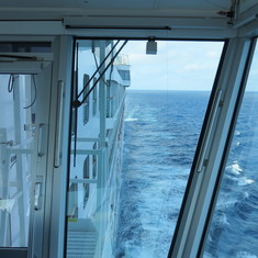Looking aft from the bridge