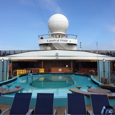 Venus Lido Pool on Carnival Pride