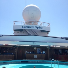 Dome Main Pool on Carnival Spirit