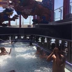 Thunderball Pool on Carnival Splendor