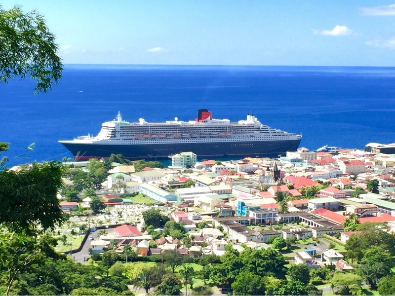 QM2 in Dominica Rosseau